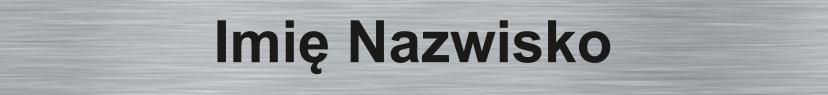 Płytka PG srebrna z grawerem nazwiska